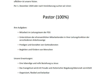 Pastor (100%)