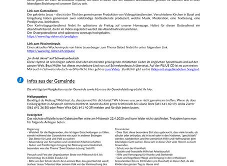 FEG Newsletter #4 - 09.04.2020