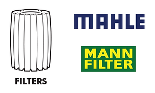 Filters - oil air fuel cabin air Mann Mahle Hengst BMW Mercedes Benz