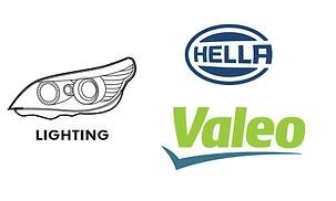 Lightig - lights, headlights taillights turn signal BMW Hella Valeo