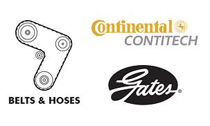 Belts Hoses - rubber pulley gear Continental Contitech Gates CRP