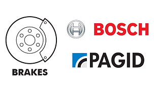 Brakes - brake pads calipers rotors Bosch Pagid Textar Jurid Genuine Mercedes BMW