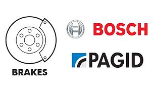 Brakes - brake pads calipers rotors Bosch Pagid Textar Jurid Genuine Mercedes BMW