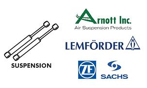 Suspension - steering gas shocks wishbone arms Lemforder ZF Sachs Arnott core