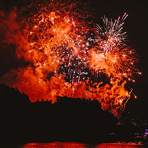 FIREWORKS ABOVE THE WATER
