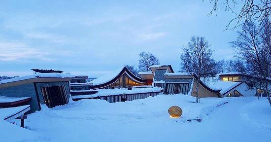 Trip to Kautokeino width snowmobile