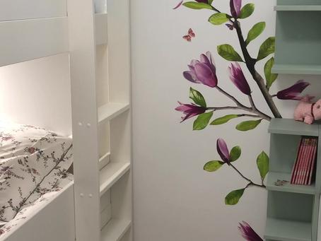 Bulle 5: Un espace dédié avec  un lit superposé pour 3 enfants...sages comme des images ;-)