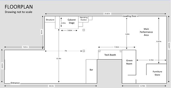 A venue floorplan