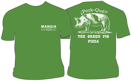 Green Pig Pizza T-Shirt