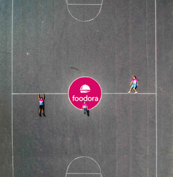 Foodora Basketballfeld
