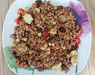Веганская кухня. Вегетарианская кухня. Веганские рецепты. Вегетарианские рецепты. Веганские блюда с фото. Вторые блюда.  Фарро (полба) с овощами