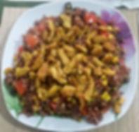 Веганская кухня. Вегетарианская кухня. Веганские рецепты. Вегетарианские рецепты. Веганские блюда с фото. Вторые блюда. Красный рис с овощами и соевым мясом
