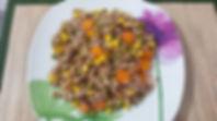 Веганская кухня. Вегетарианская кухня. Веганские рецепты. Вегетарианские рецепты. Веганские блюда с фото. Вторые блюда.  Смешанный рис с кукурузой, горошком и морковью