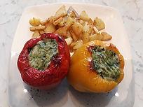 Веганская кухня. Вегетарианская кухня. Веганские рецепты. Вегетарианские рецепты. Веганские блюда с фото. Фаршированный перец с овощным пюре