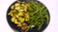 Веганская кухня. Вегетарианская кухня. Стручковая фасоль с кабачками