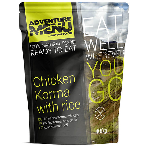 Chicken Korma with Rice + Zipper Bag + Flameless Ration Heater