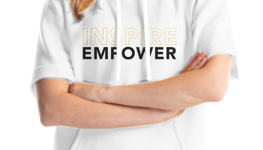 """""""Inspire, Empower"""" Stacked Hoodie"""