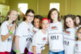 A group of girls from the Discovering Dance Camp