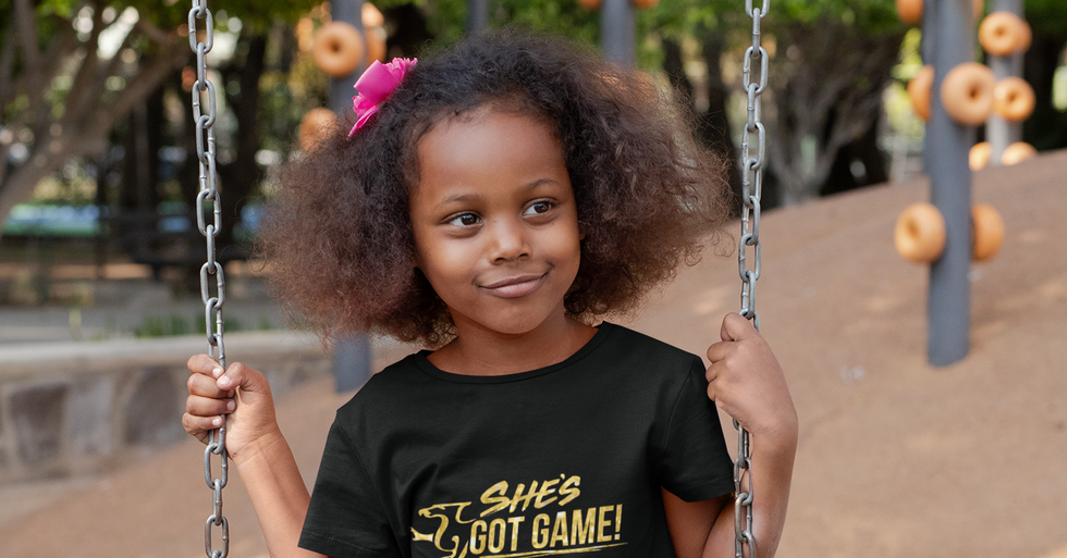 """""""She Can, She Will"""" Children's Tee"""