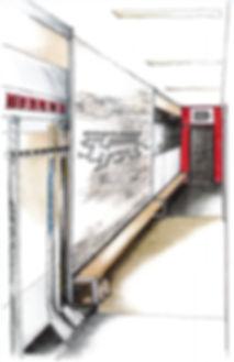 Gryphon womens varsity hockey locker room rendering