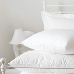 Down and feather pillows and duvets