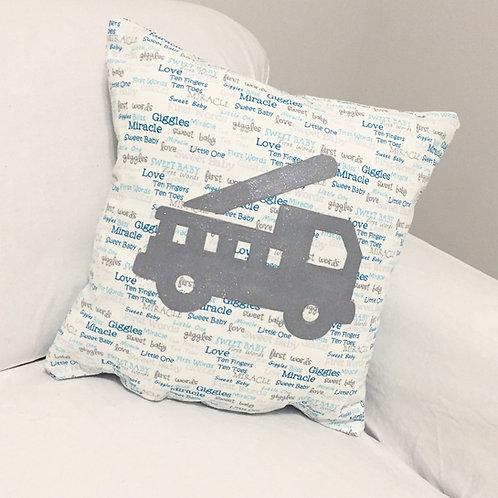 Baby Boy Truck Pillow