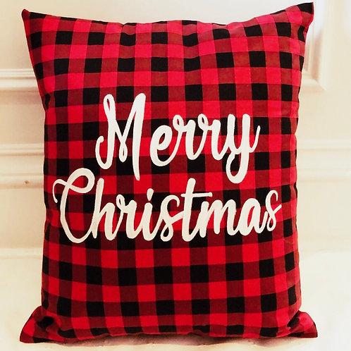 Merry Christmas Reindeer Pillow