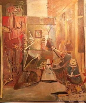 Hommage Velasquez... L'artiste . ( huile