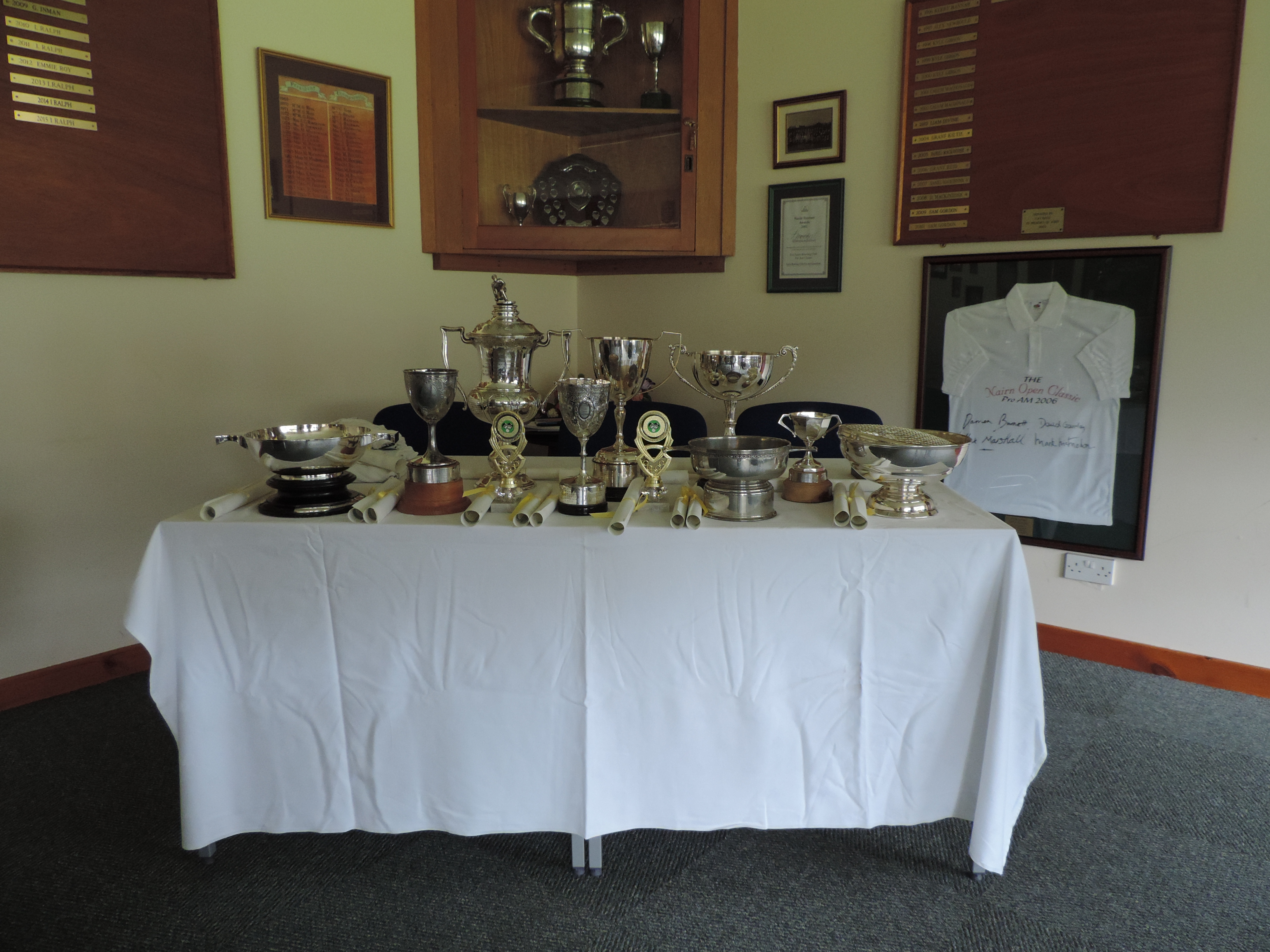 2016 Trophy table