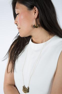 Banu Necklace & Earrings-bronze