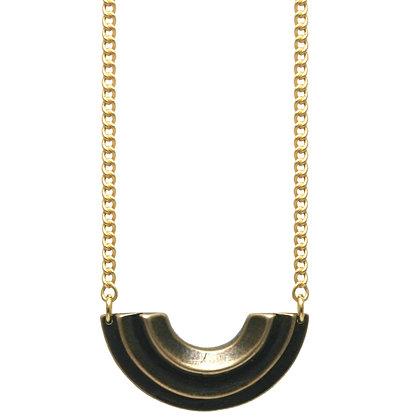Small Diya Necklace-bronze