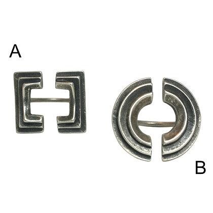 Atonia & Diya Rings-silver