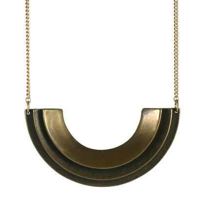 Diya necklace-bronze