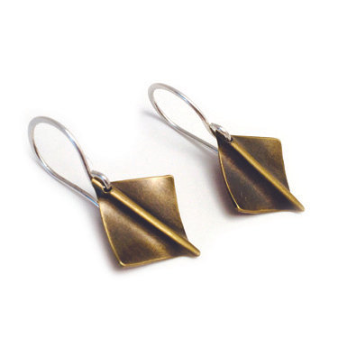 Camden Diamond Earrings-brass