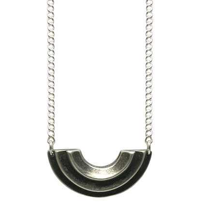 Small Diya Necklace-silver