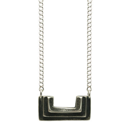 Small Atonia Necklace-silver