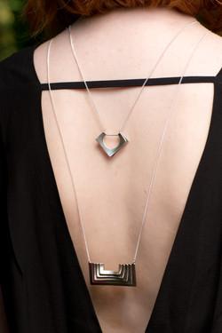 Oliva Metal Studio Luvina & Atonia Necklace-silver