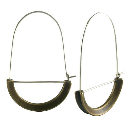 Nora earrings-bronze