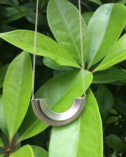 Diya Necklace-silver