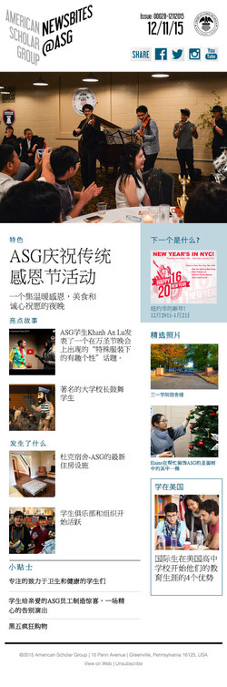 Newsletter (Mandarin)