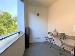 Balcony blinds open
