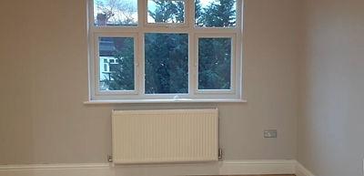 windows and radiator in loft conversion.
