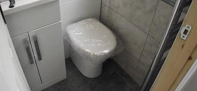 bathroom installed inside a loft convers