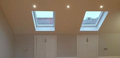 Twin velux windows in loft conversion.jp