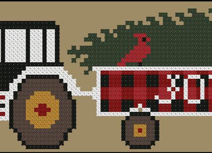 Rustic Christmas Series Olde Tractor