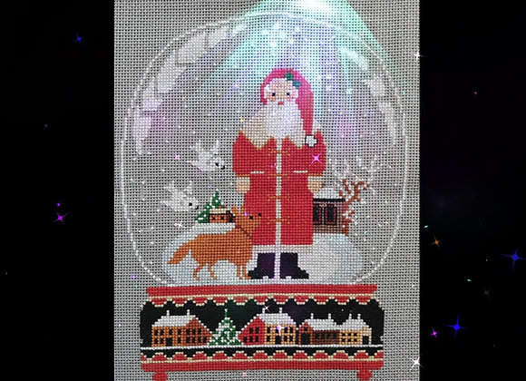 Swallow and Santa Snow Globe (Pattern Only)