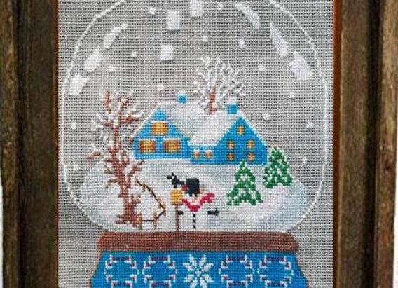 Snow Globe Blue House