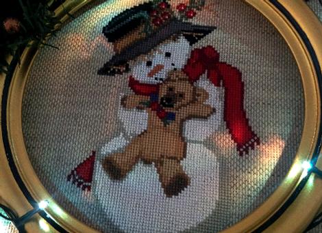Snowman and Teddy Bear