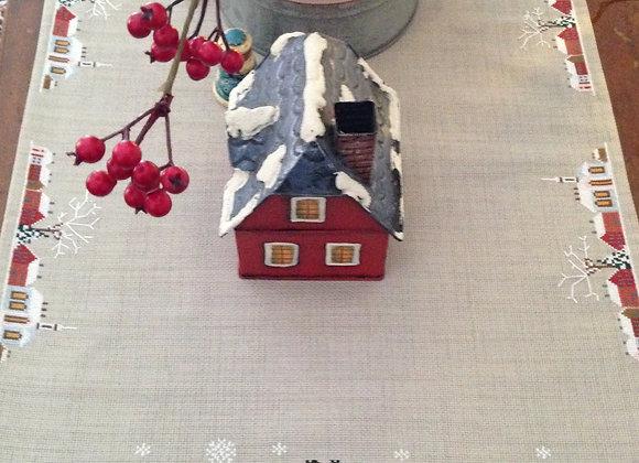 Santa's Train Table Runner