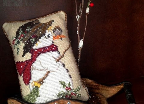 Snowman With a Bird